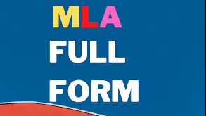 MLA Full Form And Meaning In Hindi Language