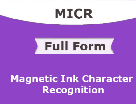 MICR full form and meaning in hindi language