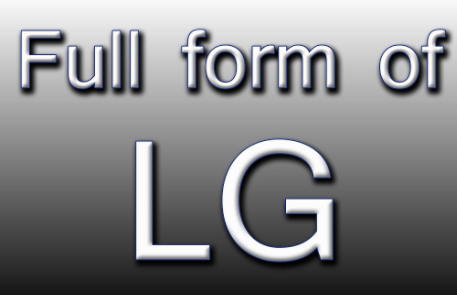 LG full form and meaning in hindi language